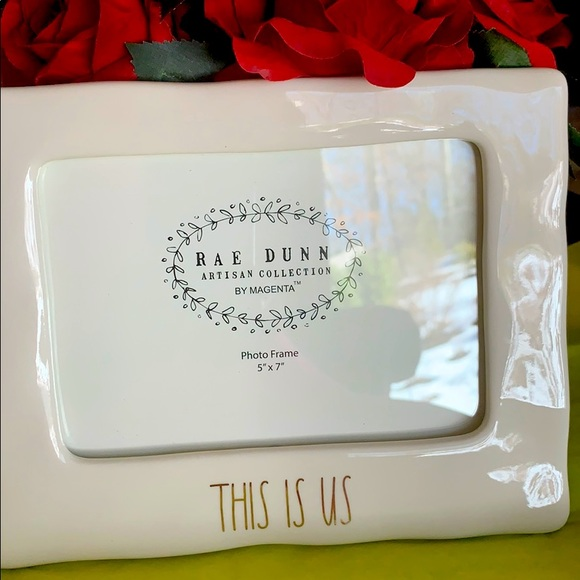 """New Rae Dunn THIS IS US Photo Frame  5"""" x 7"""""""